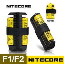 NITECORE F2 F1 гибкие Мощность банк 2A Smart li-ion IMR Батарея 2 слота USB Зарядное устройство легкий Портативный Источники питания адаптер