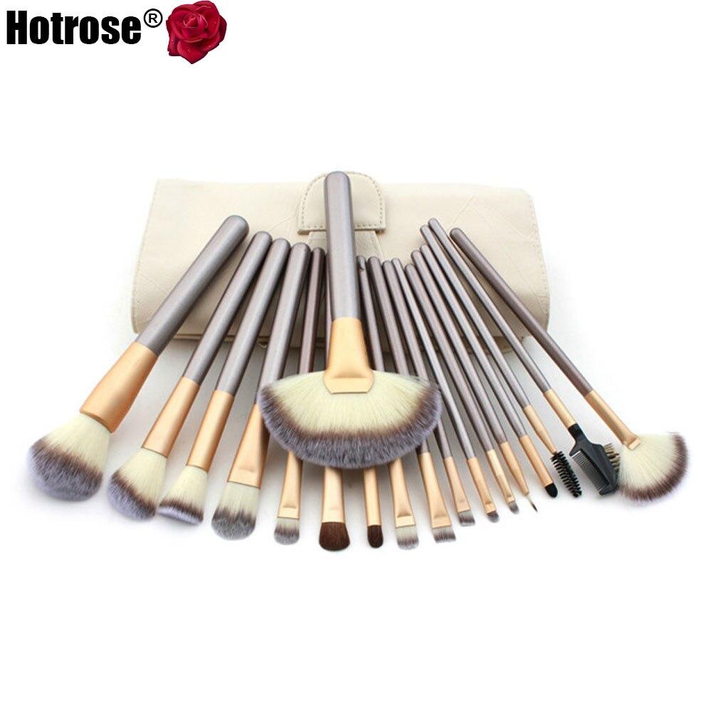 Hotrose Makeup Brushing Brush Set 12/18 pcs Soft Synthetic ...