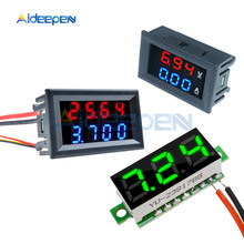 цена на 0.28 inch LED Digital Voltmeter Ammeter 50V 100V 200V Car Motocycle Voltage Current Meter Volt Detector Tester Monitor Panel