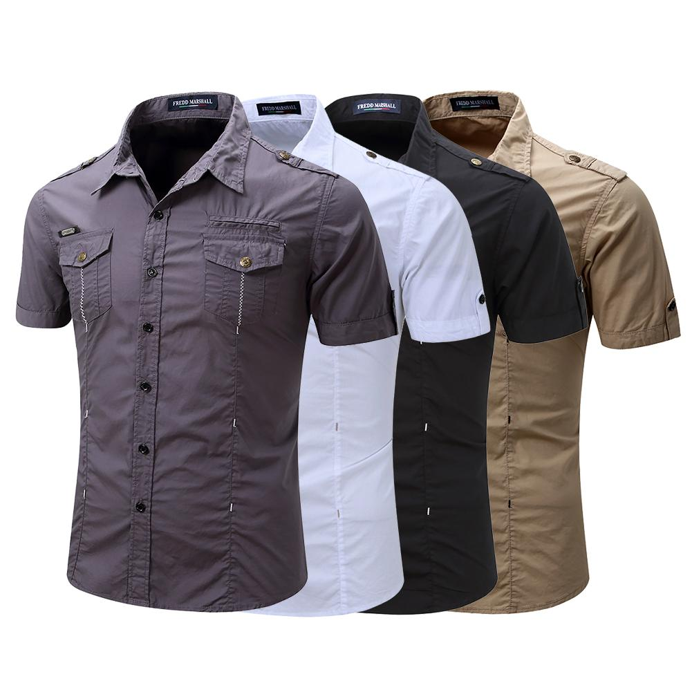 Men's Shirt Retro Style Fashion Man's Summer Cotton Shirt With Chest Pockets Summer Casual Breathable Casual Shirt Plus Size