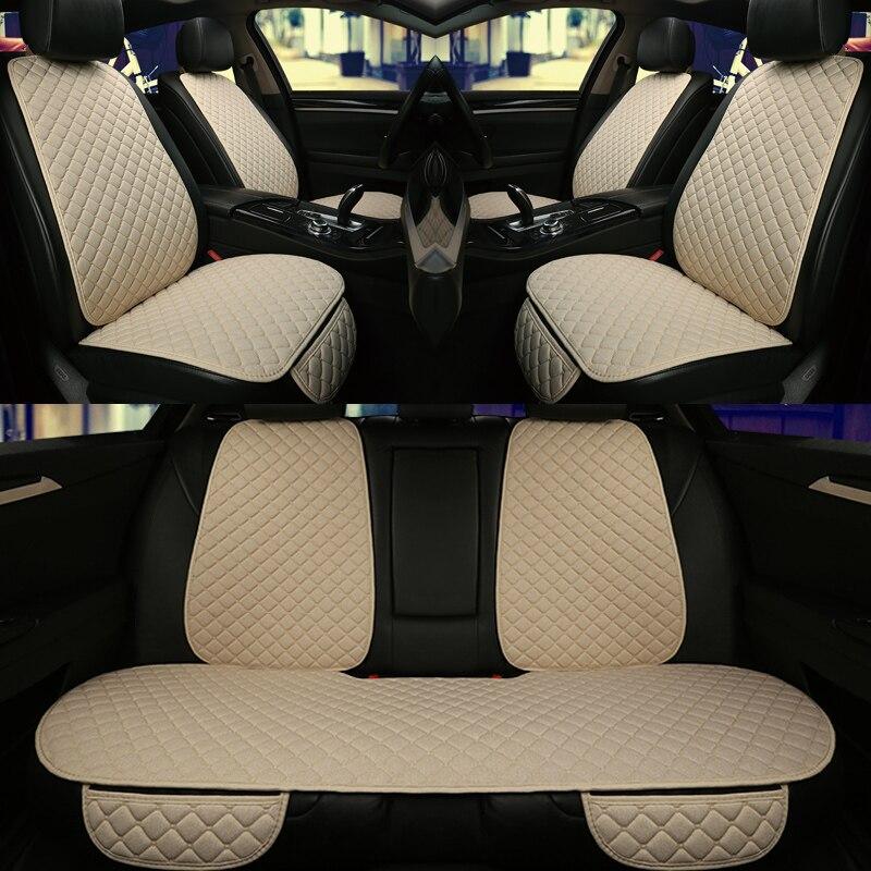5 5seats Assento de Carro Cobre um Conjunto Universal Caber A Maioria Dos Carros Protetor de Assento com Encosto Linha Automobilística Cushion Pad Mat para caminhão Auto