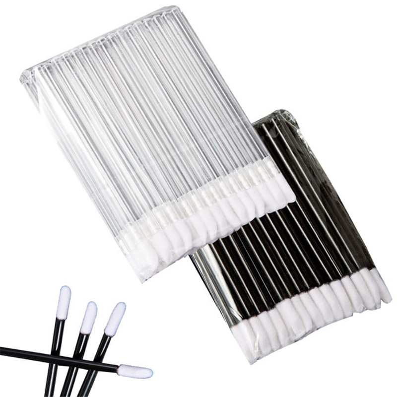 2019 New Pro 50pcs Make Up Brushes set Maquillage Mascara Wands Lip Brush Pen Cleaner Cleaning Eyelash Disposable Makeup Brush Applicators(China)
