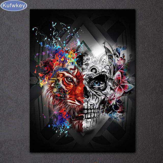 Needlework 5d Diy Diamond Painting Cross Stitch Skull 42b95225f03d