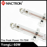 2 PCS Of Water Cooling 1200mm Dia 60mm Yongli/SP 60W Co2 Glass Laser Tube Wholesale