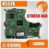 Laptop Motherboard For Asus N56JK With Processor I7cpu N56JR REV2 0 Mainboard GTX850M 4G Fit N56JR