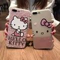 Diseño de lujo suave del silicio 3d hello kitty lindo de la historieta cat case para iphone 6 6 s 4.7 7 7 plus 5.5 teléfono contraportada coque Fundas