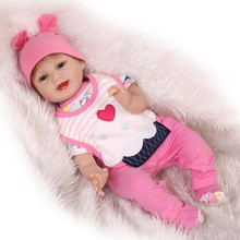 Fashion Baby Girl Dolls For Child House Playmate 55cm 22Inches Realistic Reborn Baby Dolls Real Like Silicone Newborn Baby Dolls