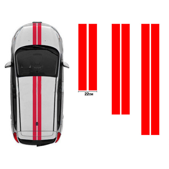 Bonnet & Rear Racing Stripes Graphics Stickers Decals Car Styling Accessories Dt-087 By Scientific Process Steady 3x For Citroen C2 Ott004 Roof Exterior Accessories Automobiles & Motorcycles