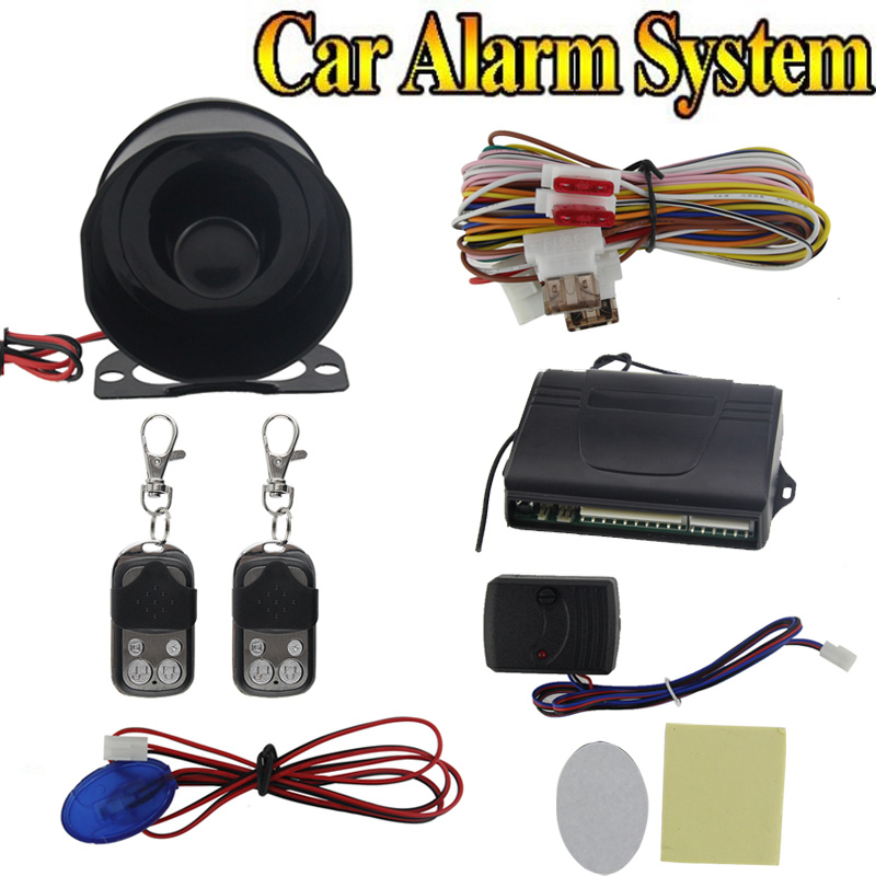 Car alarm security system 1-Way Car Alarm Protection System with 2 Remote Control auto burglar alarm system Car Accessor FC twp js two way car alarm system w 1 57 lcd remote controller gray