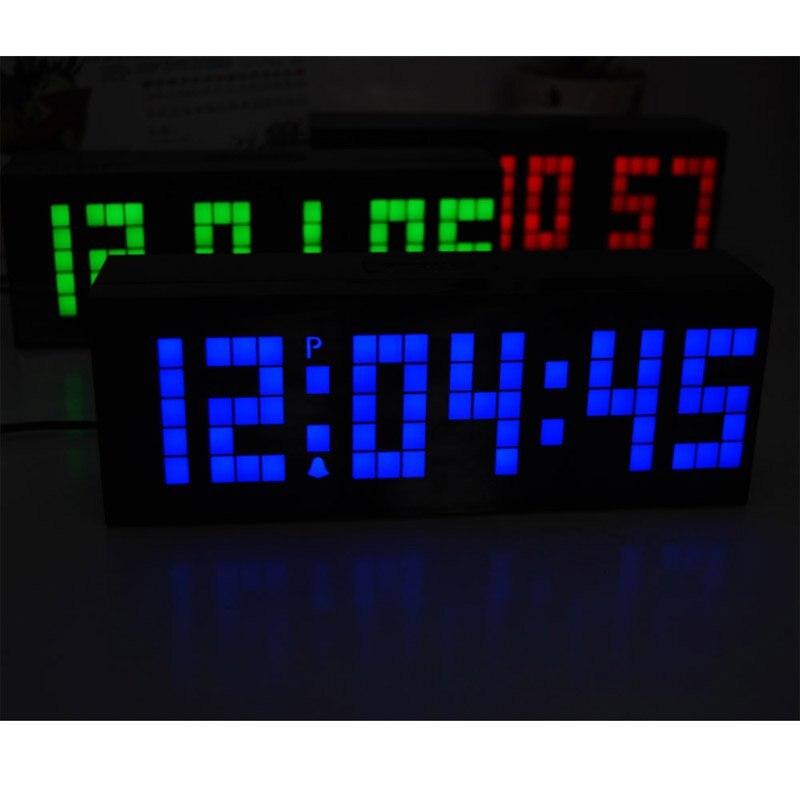 FREE SHIPPING Ajanta blue led wall alarm clock modelsin Alarm