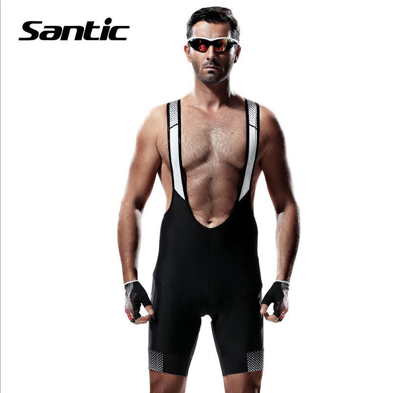 Цена за Santic мужская Велоспорт Шорты Дышащий Велосипед Bib Шорты + 4D Мягкий Спандекс Шорты MTB Ciclismo Bretelle