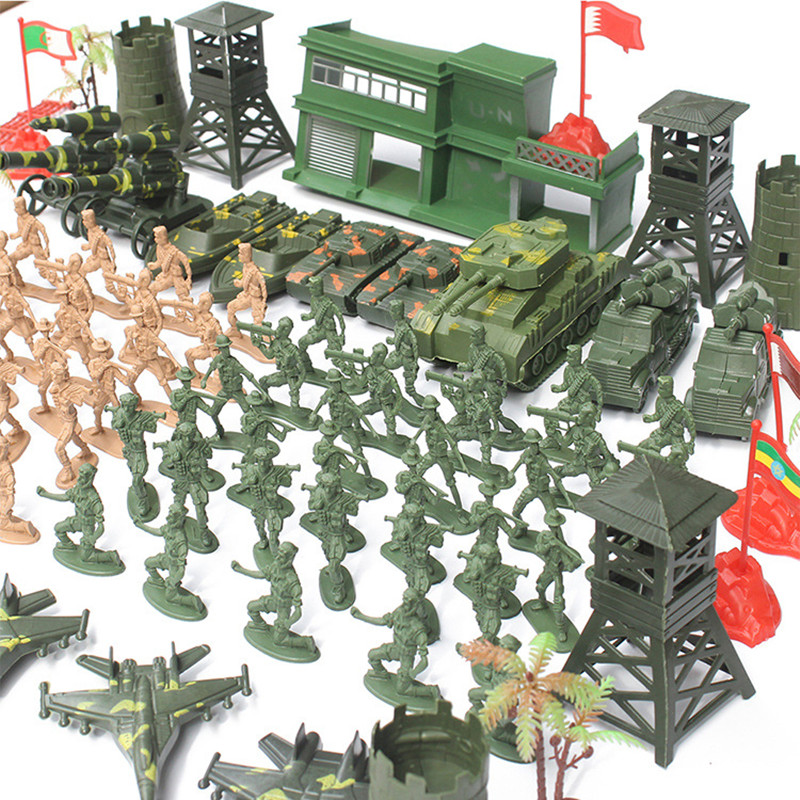 122 PCS/Set 6CM High Quality Military Equipment Plastic Soldier Model Toys For Boy Best Brinquedos Gift For Kids Toys Wholesale free shipping 200pcs lot plastic soldier set military toy model set with tank helicopter model best toys for children birthday