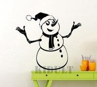 Weihnachten Schneemann Wandtattoos Cartoon Wandaufkleber Home Interior Wohnzimmer Kinderzimmer Hintergrund Dekorative Malerei School