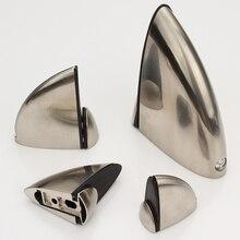 Регулируемые стеклянные зажимы из цинкового сплава полки поддержка крепежные скобы стеклянная крышка наконечник рот стиль яркий хром/матовый серебристый