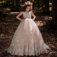 Princess Ball Gown Flower Girl Dresses For Weddings New Arrivals Girls Pageant Gowns First Communion Dresses Vestidos Daminha