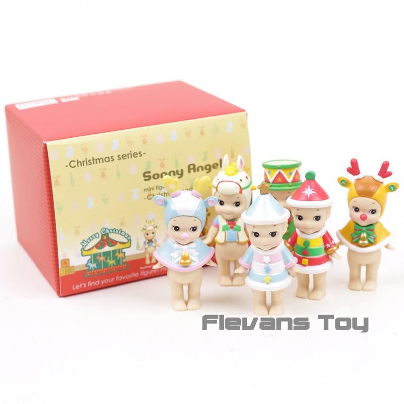 Sonny Angel 2017 Christmas Series Mini PVC Action Figures Collectible Model Toys Dolls Christmas & Brithday Gift 6pcs/set