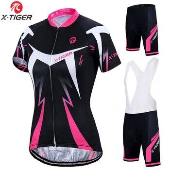 X-Tigre 2019 Set Camisa de Ciclismo Mulher Roupas De Corrida de Bicicleta Roupas Bicicleta Verão Ciclismo Roupas Maillot Ciclismo Ropa Hombre