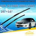 "Escovas para honda accord euro (2003-2007) 2004 2005 2006 car windscreen windshield wiper blade wiper 26 ""+ 16 carros acessórios"