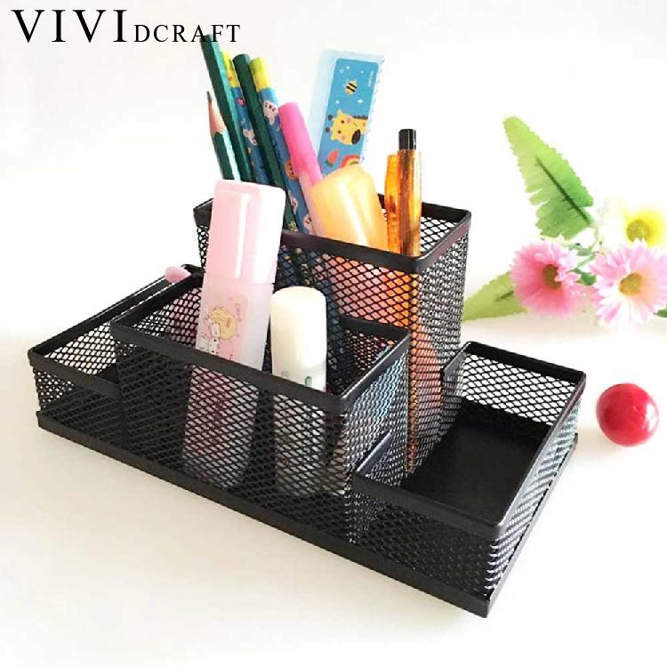 Vividcraft Office Stationery Organizer Metal Cosmetic Pencil/Pen Holders Container Office Supplies Desk Accessories Pen StandVividcraft Office Stationery Organizer Metal Cosmetic Pencil/Pen Holders Container Office Supplies Desk Accessories Pen Stand