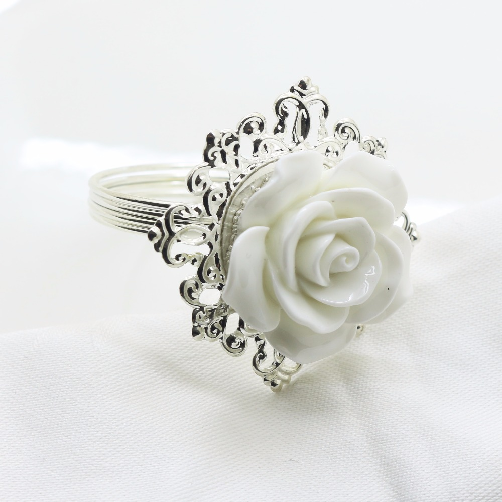 10 Napkin Rings Flower Napkin Ring Handmade Napkin Ring Wedding