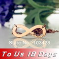 Personalized 925 Silver Name One Direction Style Infinity Necklace Rose Gold  Infinity Symbol Nameplate Pendant Letters Necklace