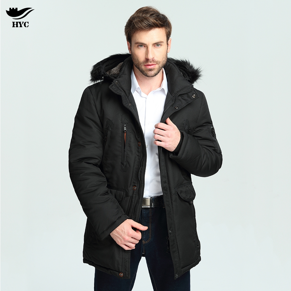 HAI YU CHENG Winter Jackets Mens Parka Coat Male Solid Basic Overcoat Padded Quilted Jacket Men Long Parkas Men Puffer Jacket hai yu cheng winter jacket men wadded parka male wind breaker long trench coat plus size men coat outerwear hood winter anorak