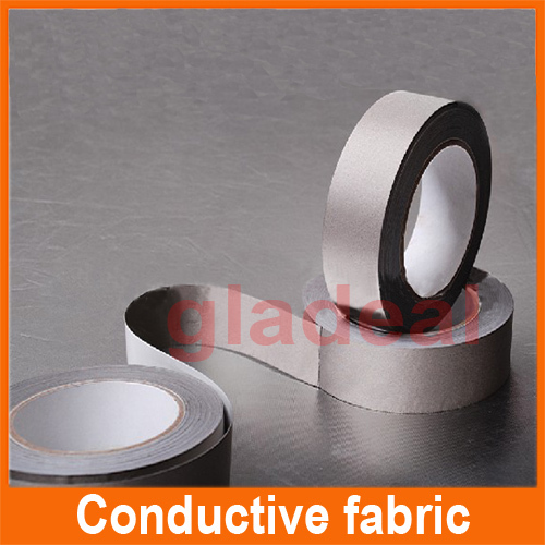 30mm*20 Silver Adhesive Conductive Fabric Cloth Tape for Mobilephone Cable, LCD/PDP, EMI Shielding,ELECTRONIC COMPONENTS repair t a pdp 3000 hv silver