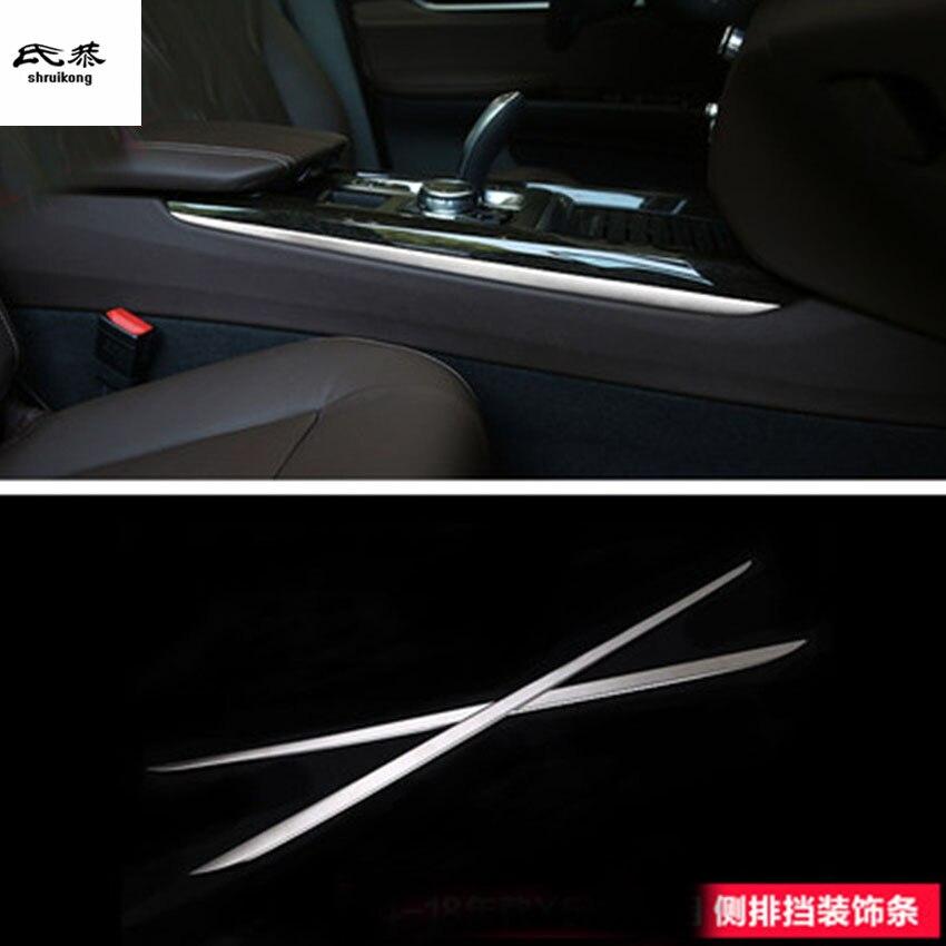 2 pcs/lot plate-forme d'engrenage en acier inoxydable les deux sids décoration couverture pour 2014-2018 BMW X5 F15/X6 F16 accessoires de voiture