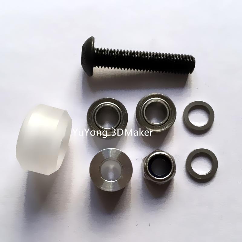 Prix pour Haute précision CNC En Polycarbonate transparent Xtreme Mini v roue kits pour Openbuilds v-fente linéaire rail système