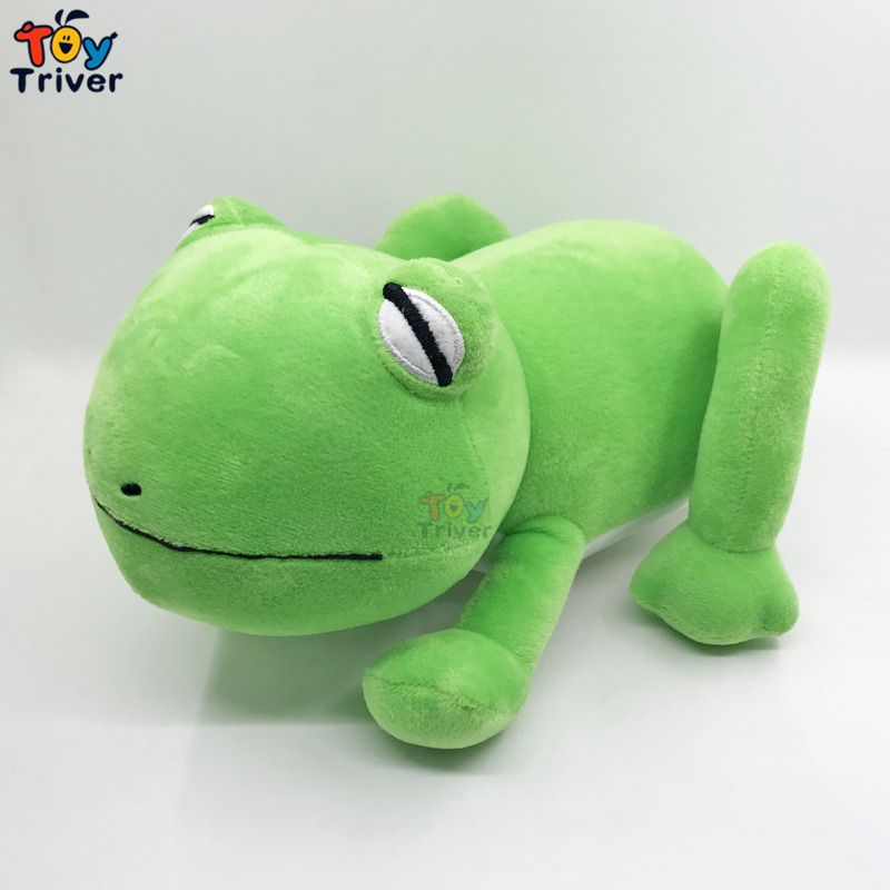 Simulation Plush Green Frog Toy Stuffed Animal Frogs Doll Baby Kids Children Birthday Gift Home Shop Decoration Craft Triver