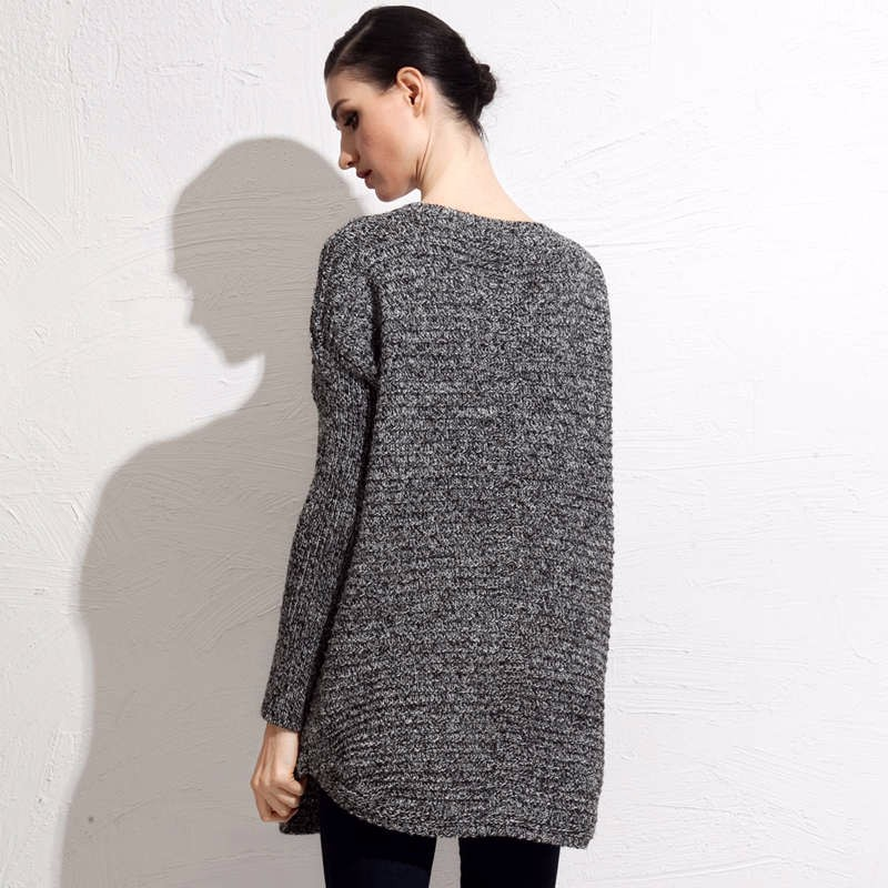 Wool Blends fall mid length sweater 7