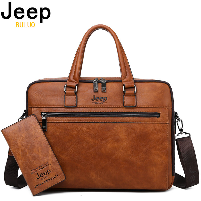 JEEP BULUO Brand Men Business Briefcase For 14 Fashion laptop A4 File New Shoulder Travel New Bag For Man High QualityJEEP BULUO Brand Men Business Briefcase For 14 Fashion laptop A4 File New Shoulder Travel New Bag For Man High Quality