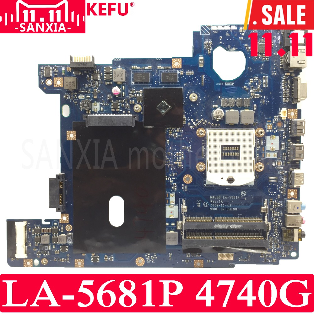 цена KEFU NALG0 LA-5681P Laptop motherboard for Acer 4740G 4740 Test original mainboard HM55