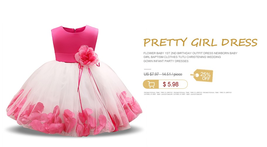 883b43c74b31f US $6.14 23% OFF|Flower Baby 1st 2nd Birthday Outfit Dress Newborn Baby  Girl Baptism Clothes Tutu Christening Wedding Gown Infant Party Dresses-in  ...