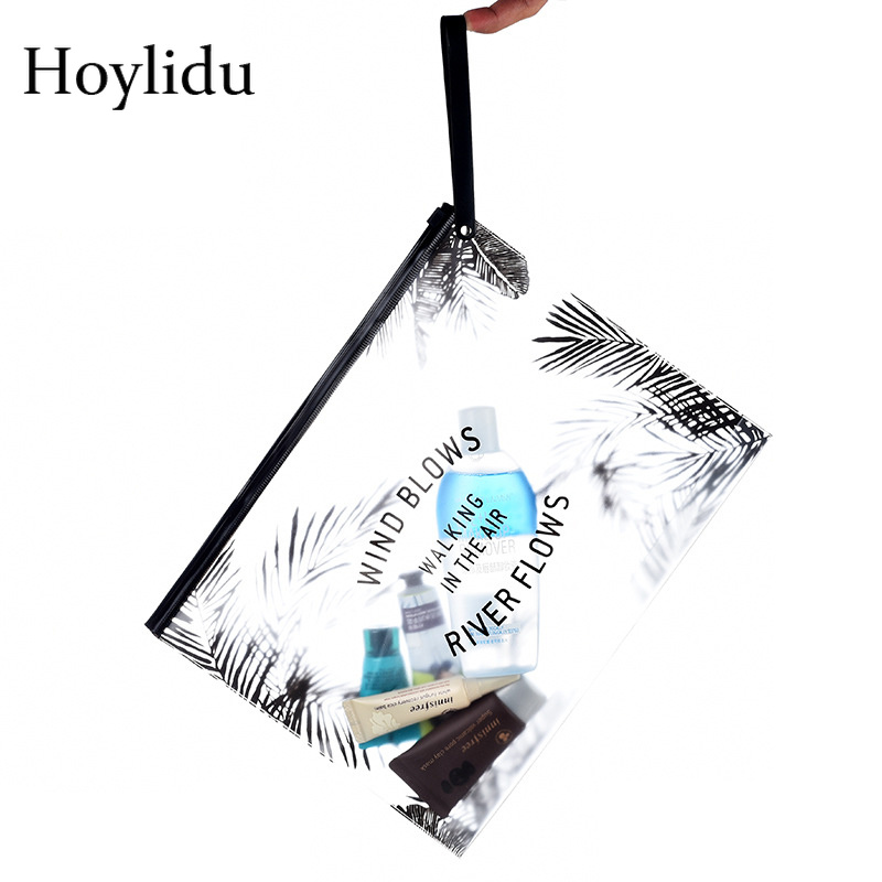 Fashion Transparent PVC Cosmetic Bag For Women Make Up Clear Bag Travel Organizer Necessary Waterproof Bath Wash Toiletry Bags