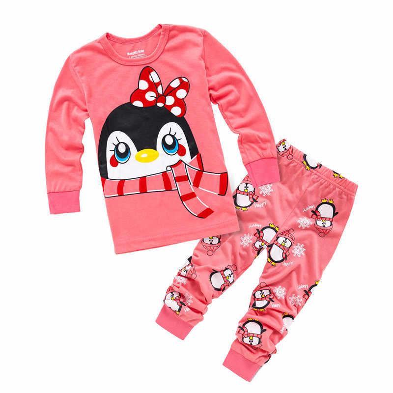 9d0f17b85 ... Brand Children Pajamas Nightwear Leopard Hello Kitty Loungewear Kids  Girls Boys Homewear Spring Autumn Sleepwear Cotton ...