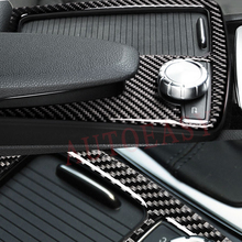 цена на For Mercedes Benz W204 W205 W212 C Class E Coupe RHD Real Carbon Fiber Interior Water Cup Holder Panel Frame Trim Car-Styling