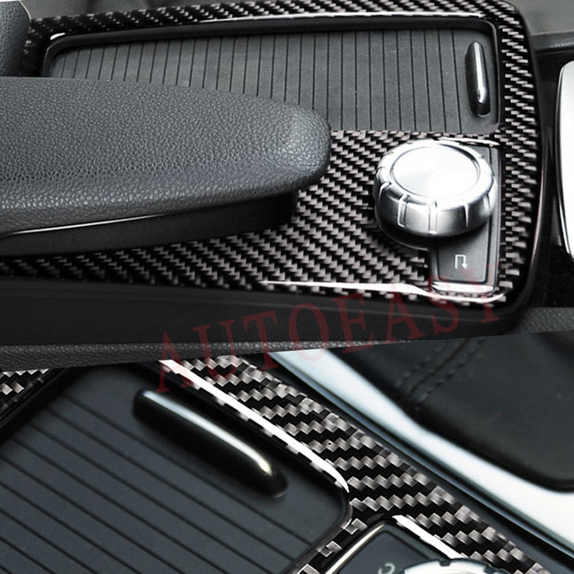 US $28 05 15% OFF|For Mercedes Benz W204 W205 W212 C Class E Coupe RHD Real  Carbon Fiber Interior Water Cup Holder Panel Frame Trim Car Styling -in
