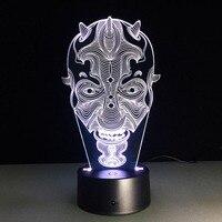 1ピースハロウィンカボチャランタンギフト幽霊の顔3dランプデスクランプで7色カラフルなリモートタッチナイトライト#15