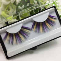 Seashine new style 3D color strip lash false fake lash extensions high quality korea silk russian volume lash