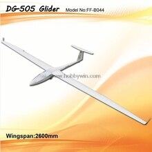 DG-505 планер наклона 2600 мм ARF без электронных частей RC модель стекловолокна парусник