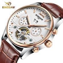 BINSSAW Mens Watches Casual Top Brand watch Luxury business Wristwatches fashion tourbillon Mechanical Watch Relogio Masculino