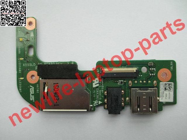 Do laptop original PLACA DE LEITOR DE CARTÃO USB AUDIO X555LD_IO X555LD X555L PLACA de teste bom frete grátis