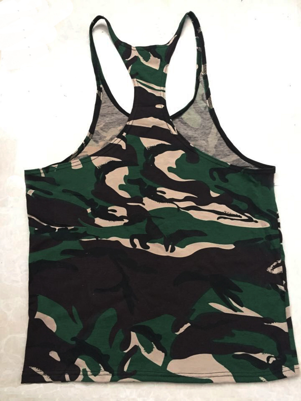 Summer Fitness Bodybuilding Shirt Men Weightlifting Tank Tops Camouflage Stringer Y Back Racer Vest Gyms Clothing Casual Clothes