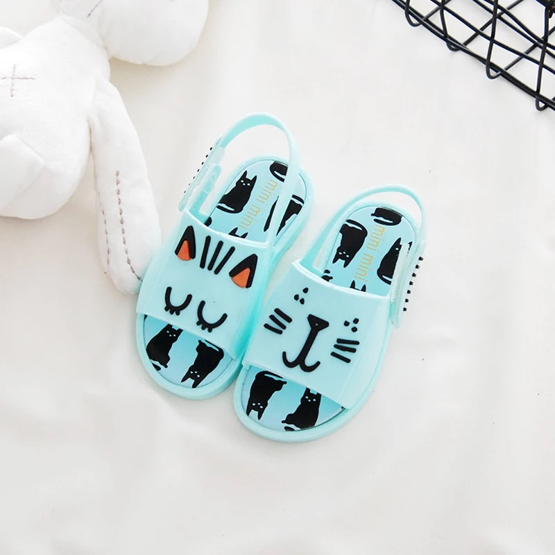 Mini Melissa Cute Butterfly Girl Jelly Sandals 2018 New Melissa Girls Beach Sandals Breathable Girl Jelly Shoes 14cm-16.5cm