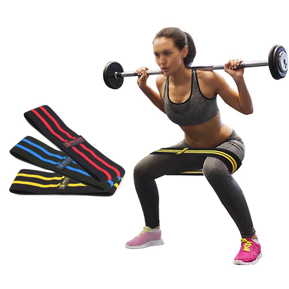 5B5BILLION cadera resistencia bandas de ejercicio para botín muslo glúteos diseño antideslizante suave bucle de