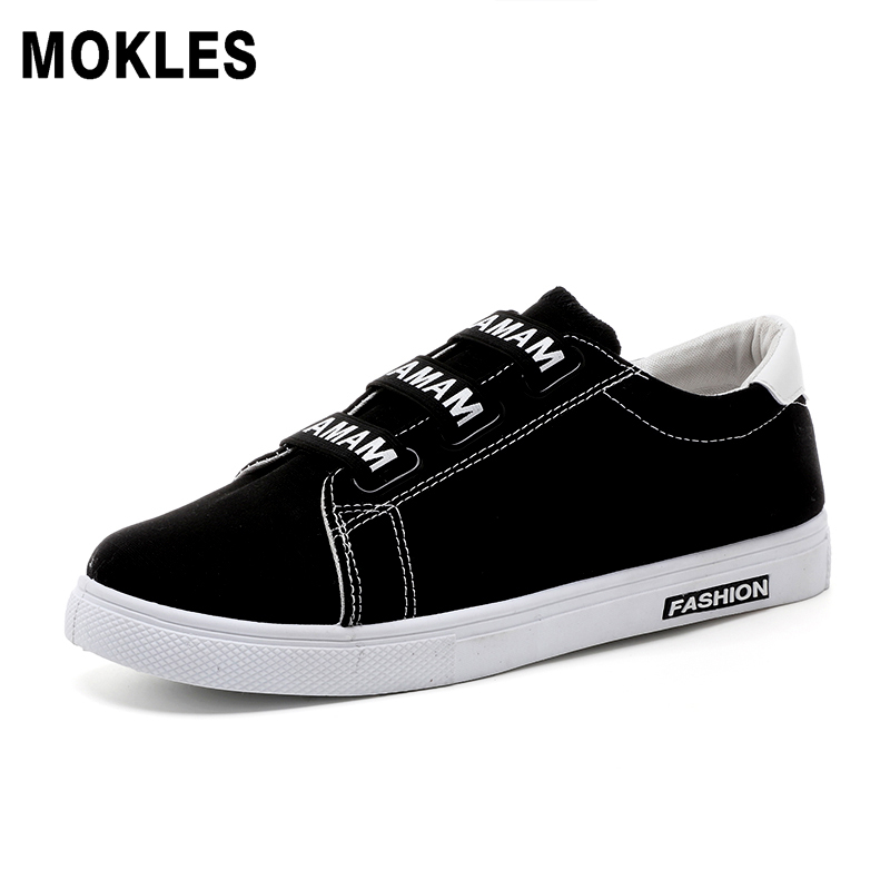 spring new men young personality wild boy canvas casual walking board shoes up rubber hombre zapatos black white red