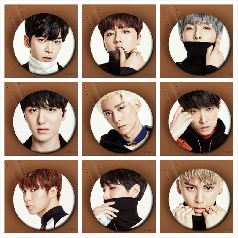 Youpop KPOP Korean SF9 SensationalFirst9 Album Fanfare Metal 58mm Round Badge Pins And Brooches For Clothes Hat Backpack burly short sissy bar