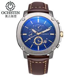 Часы Для мужчин Элитный бренд ochstin Повседневное часы кварцевые часы Для мужчин Спорт Часы Для Мужчин's Военная Униформа наручные часы Relogio