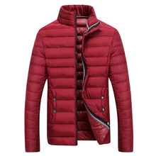 Winter jacket men clothing stand collar male cotton clothes slim casual cotton-padded jacket outerwear men coat parka